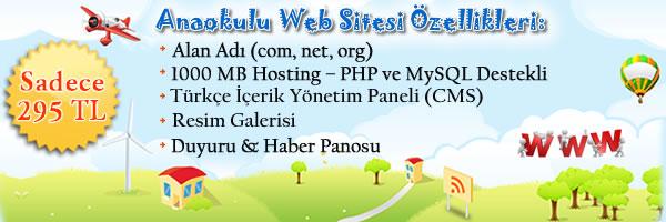 anaokulu web sitesi paketi